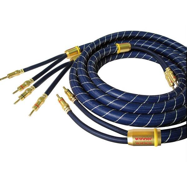 ToneWinner SC-6 Audiophile Aduio Speakers Cables pair